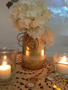 Uncategorized, Great Centerpiece Idea For A 50th Anniversary Party: 50th wedding anniversary party ideas this would be cute in silver with hershey kisses! Description from pinterest.com. I searched for this on bing.com/images