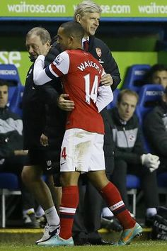 WELL DONE SON ... Wenger and Theo