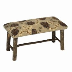 Northwoods Pinecones Hickory Bench - Would be so pretty at the end of a bed or in an entryway