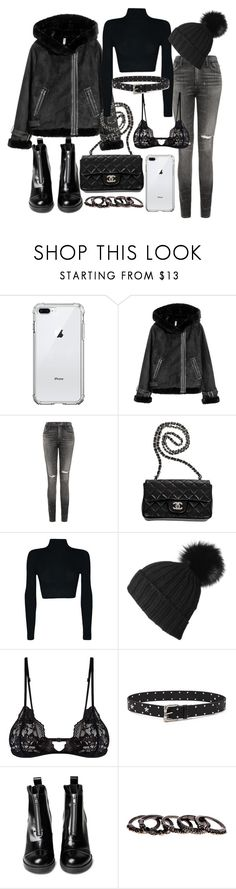 """Untitled #22738"" by florencia95 ❤ liked on Polyvore featuring Citizens of Humanity, Chanel, Black, Mosmann, Forever 21 and Free Press"