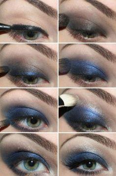 Blue Smokey Eye make Up Ideas