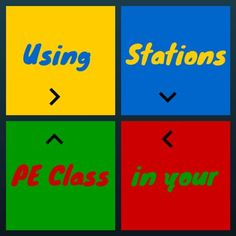 Using stations can help to energize your PE class and increase your students levels of activity, excitement and involvement!