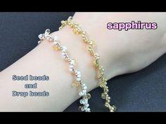 (5) 【ハンドメイド】シードビーズとドロップビーズで編むブレスレットの作り方☆-Easy Tutorial- How to make a bracelet with seed beads. - YouTube