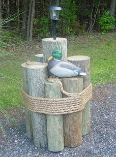 Here's a nautical idea for covering a well pipe.