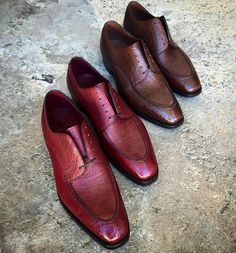 "Our ""Isham"" in cherry and oak kudu. Made to Order... - Gaziano & Girling - Bespoke & Benchmade Footwear"