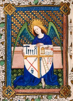 Heraldry, Decorated: Instruments of Passion   Book of Hours | Belgium, perhaps Ghent; England | ca. 1420 | The Morgan Library & Museum