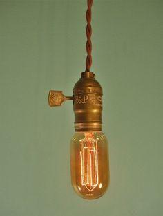 Vintage Minimalist Industrial Bare Bulb Light Sockets by DWVintage, $37.95