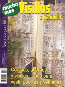 Visillos a ganchillo No. 27   Ornaments and curtains for the home. Great patterns for doors and windows. All charted. 31 pgs