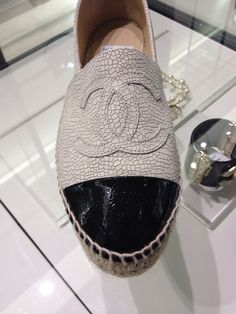 Cruise 2015 (15C) espadrilles, crackle leather...my newest shoe addition