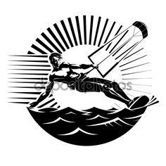 kite surf — Illustrazione Stock #58572447