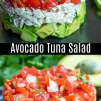 This tuna salad recipe is mixed with avocado and fresh salsa. It is perfect for an easy lunch or a simple low carb meal. Avocado Tuna Salad, Fresh Avocado, Avocado Recipes, Salad Recipes, How To Make Salad, Food To Make, Homemade Mayonnaise, Keto, Fresh Salsa