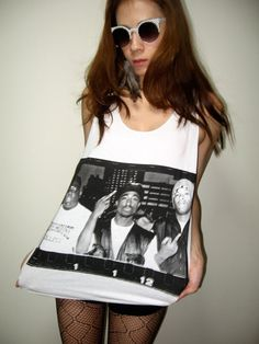 2 Pac Biggie Smalls Rap Hip Hop Rock Tank Top M. $15.99, via Etsy.