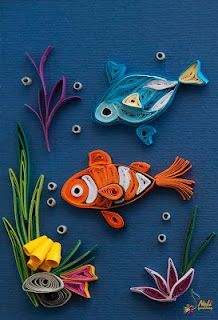 112 Best Quilling Fish Images Papercraft Quilling Animals