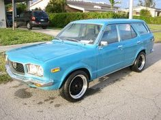 1973 Mazda Rx3 Sport Wagon with rotary engine. Close, I had a Mazda 808 four speed...in fact, had two, candy apple red and navy blue