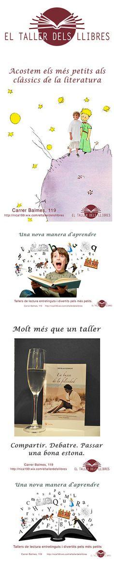 Recull d'anuncis de El Taller dels Llibres, treball de Direcció d'Art de Publicitat.