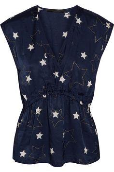 Karl LagerfeldCoco star-print twill blouse