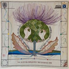 THE Great Tapestry of Scotland is made up of more than 160 panels and will go on display at the Scottish Parliament later this year. Scottish News, Scottish People, Scotland National Flower, Scottish Parliament, Bayeux Tapestry, Modern Books, Banner, Cross Stitch Embroidery, Fiber Art