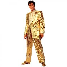 Advanced Graphics Elvis Presley in Gold Suit Life-Size Cardboard Stand-Up - 407T
