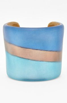 Alexis Bittar 'Lucite®' Stripe Wide Cuff available at #Nordstrom  Beautiful!