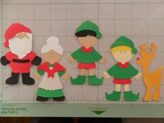 Christmas Cricut Paper Dolls