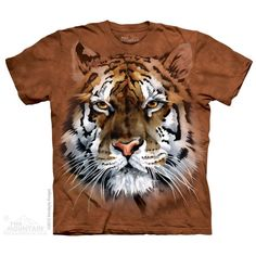 The Mountain Tiger T-shirt   Fierce Tiger, New 2014 Adult T-shirts from The Mountain, 103677