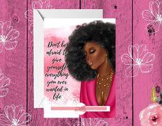 Birthday Cards For Women, Funny Birthday Cards, Birthday Greeting Cards, Black Girl Art, Black Women Art, Birthday Woman, Women Birthday, American Card, African American Women