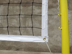 #VolleyballNet  Material: high strength polyethylene twist rope  Process: UV treatment and heat setting