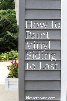 The best solution for painting vinyl siding to make it last and an inexpensive exterior pool shed makeover. #poolshed #paintvinylsiding
