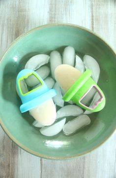 Sleepy time Popsicles.  Chamomile tea, yogurt, banana