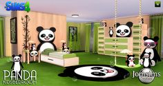 Sims 4 CC's - The Best: Panda Bedroom Set for Kids by JomSims