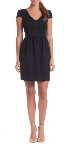 Mikkel Dress from Shoshanna--this fit and flare cut would be the best LBD cut for me!