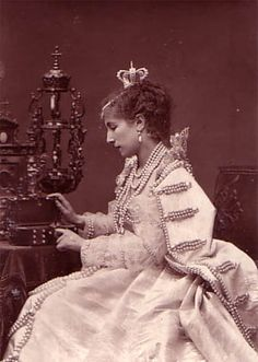Sarah Bernhardt in one of her early triumphs - Her affair with Pozzi continued after the horrible debacle of the Franco-Prussian War and the Paris Commune.