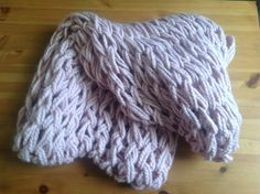 My first arm knitted infinity scarf