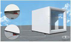 Mobilna konstrukcja umożliwia łatwe przemieszczanie - płozy pod podłogą czekają na wózek widłowy.