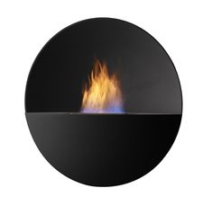 Wall hanging bio fireplace from Safretti. Round design produced of aluminium and powder coated. Ethanol Fireplace, Fireplaces, Round Design, Outdoor Fire, Fireplace Design, Greek Gods, Natural Forms, Luxury Interior Design, Poetry