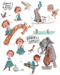 People Illustration, Children's Book Illustration, Character Illustration, Book Illustrations, Children's Book Characters, Book Design, Illustrators, Nescafe, Character Development