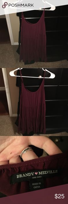 brandy melville dress maroon/burgundy colored flowy dress from brandy melville Brandy Melville Dresses Mini