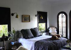 Back Issues of Remodelista: Home Design and Remodeling Inspiration : Remodelista Black Gold Bedroom, Gray Bedroom, Home Bedroom, Bedroom Furniture, Bedroom Decor, Bedrooms, Tomboy Bedroom, Bedroom Neutral, Light Bedroom