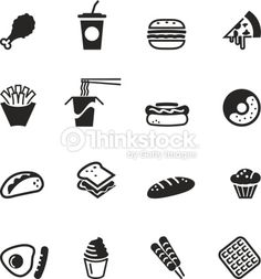 Food Icons, Character, Lettering