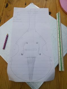 Design for the double bass cake