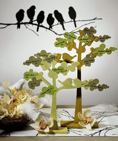 Wedding Decorations Reception Love Bird Trees Features Two Wooden Cut With Birds Attach Leaves For Cards