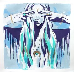 See Me, Hannah Adamaszek. Street Art. Spray Paint and Acrylic on canvas. Hannah Adamaszek's original works are both delicate and subtle yet full of energy and life and would make a statement in your hallway, bedroom or living room.