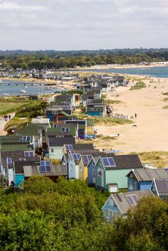 wanderthewood: Beach huts at Hengistbury Head, Dorset, England by silvermsc on Flickr