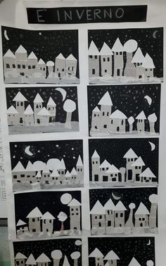 Město z novinového papíru Activity story- Activité conte Activity story - Winterlandschaft malen ️ Village d'hiver ❄️ Winter Art Projects, Winter Project, Winter Crafts For Kids, School Art Projects, Winter Kids, Art For Kids, Kids Crafts, Winter Activities, Art Activities