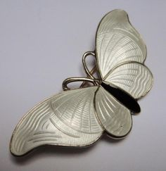 Norway Sterling Silver & Snow White Enamel BUTTERFLY Pin or Brooch by H C Ostrem | Jewelry & Watches, Vintage & Antique Jewelry, Vintage Ethnic/Regional/Tribal | eBay!