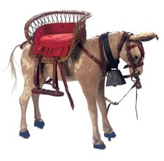 French Toy Donkey with Elaborate Harness and Side Seat cm. Antique Toys, Vintage Toys, Vintage Antiques, Rocking Horse Toy, Victorian Toys, Carousel Horses, Bear Doll, Old Dolls, Tin Toys