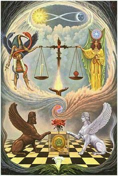 People do not understand Libra people well; They do not know or want to know about diplomacy - Zodiacal Sign of LIBRA Art Visionnaire, Esoteric Art, Occult Art, Wiccan Art, Occult Books, Visionary Art, Book Of Shadows, Sacred Geometry, Mandala