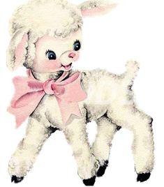 vintage sheep drawing