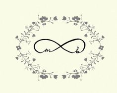 INFINITY  wedding art true love infinity symbol by studio mela
