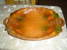 Syrocco grape leaves tray mint condition. $24.00, via Etsy.